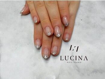 ネイルスタジオ ルキナ(LUCINA)/I-14 ガラスフレンチネイル