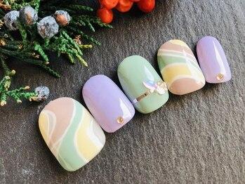 ネイルアンドアイラッシュ ブレス エスパル山形本店(BLESS)/冬のパステルプッチ!