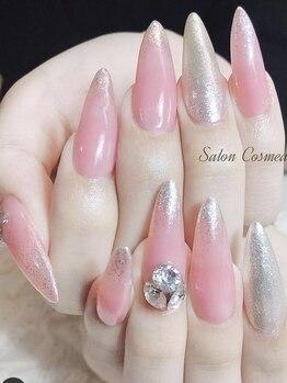 サロン コスメーア(Salon Cosmea)の写真/【スカルプ★シンプルコース¥9900】長く綺麗な指で憧れの美しい手元に♪自爪が弱い・深爪等の悩みも解消◎