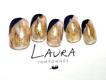 ローラポンポニー(Laura pomponnee)/オトナニュアンス×斜めフレンチ