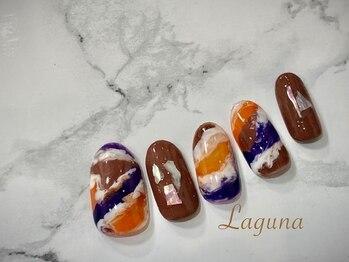 ラグウナ(Laguna)/ハロウィン風ネイル