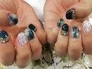 夏色ネイル海貝シェルサマー