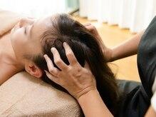 イトカ(itoca)の雰囲気(ドライヘッドスパは、髪の毛を乾かす必要がないので楽ちん♪)