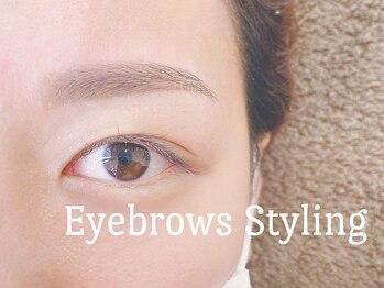 アイタイム 三宮元町(eyetime)の写真/【眉毛アイブロウ】ナチュラルなお気に入り美眉へ☆左右対称の眉毛がラクに描ける♪まつ毛パーマSetも人気