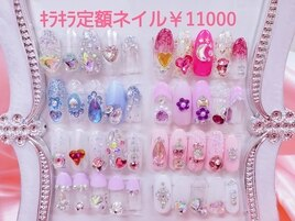 韓国ネイルキラキラ定額¥11000