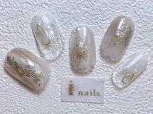 アイネイルズ 梅田店(I nails)/ゴールドニュアンス