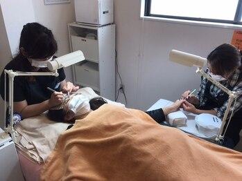 ネイル アンド リラクゼーション グランス 京成大久保店(Nail & Relaxation glance)/ネイルもマツゲも同時に時短施術