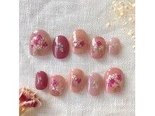 シェリーネイル(Cherie nail)の雰囲気(ブライダルオーダーチップ☆花束ネイルで大人可愛く。。)