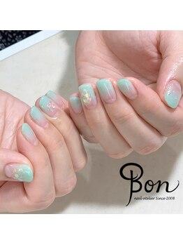 ネイルアトリエ ボン(nail atelier bon)/ミントグリーンジェルネイル