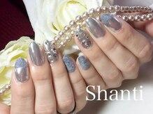 シャンティ ネイルサロン(Shanti nail salon)/冬に♪ミラーネイルとベルベット