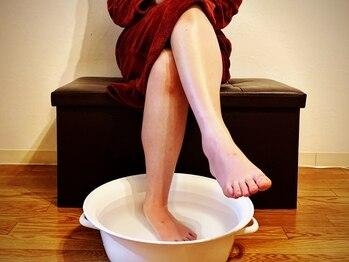 ムーンテッド(MoonTed)/まずは足湯でほっと一息