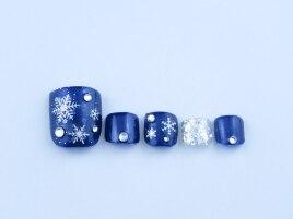 雪の結晶ネイル・フット5940円