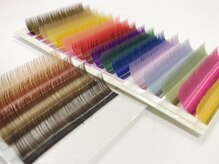 まつげエクステ専門店 キー(kiy)の雰囲気(カラー全18種類☆お好きなカラー選べます)