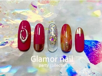 グラマーネイル(Glamor nail)の写真/あなただけの色を≪美しく・長く≫実現させる☆ライフスタイル、爪の形に合わせた施術で美しい更に指先に♪