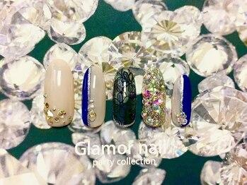 グラマーネイル(Glamor nail)の写真/【平日は夜21時まで】爪が短い方、形が気になる方に!スラッと美しい指先が手に入る長さ出しメニューあり♪