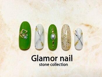 グラマーネイル(Glamor nail)の写真/豊富なカラーやパーツで指先に馴染む上品かつ繊細なアートが自慢♪どんな場面でも浮かないネイルをご提案!