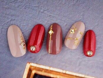 レイ ネイルアンドセレクトショップ(Lei Nail&Selectshop)/大人×オフィスクリスマス