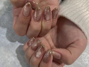 アンネ 渋谷店(ANNE)/【パラジェル】ミラーフレンチ