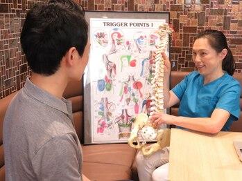 イーク 紀尾井町カイロプラクティック整体/背骨の模型を使って説明