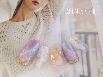 アグニークリッシェ(Agunik Riche)/【大理石ネイル】