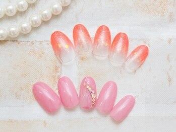 ネイルアンドアイラッシュサロン プリンセス 成田店の写真/【付け替えオフいつでも無料★】豊富なカラーの中からご自身にあったお色味をお選びいただけます♪