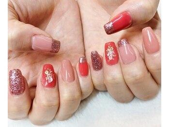 ネイルサロン マジックティンク(Magic Tink)/桜をイメージしたお花アート!