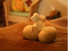 エステティックサロン ミュー(Myu)の雰囲気(天然ハーブを包んだボールで筋肉をほぐし老廃物の排出を促進。)