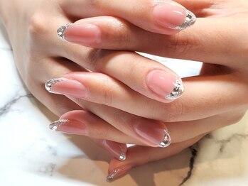 ネイルサロンブラン(nail salon BLANC)の写真/【自爪が弱い方にも】パラジェルベースシンプルネイルコース¥6050◇100種類程のサンプルからお選び頂けます