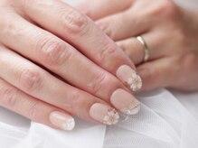 ネイルサロンブラン(nail salon BLANC)/桜のブライダルネイル