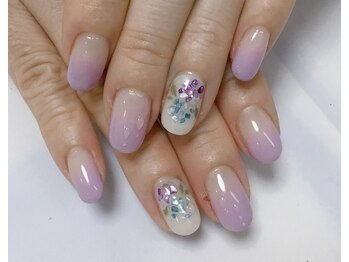 ネイルサロン ビューティーマジック 川口店/紫陽花ネイル