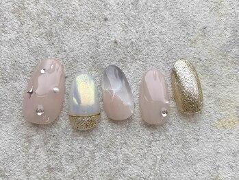 ケイティ ネイルズ(katie nails)の写真/【定額デザイン5,700円~カラー/パーツ変更OK自分好みのネイルにカスタマイズ◎】あなただけのお手元へ♪