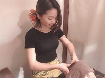 もあまる 津田沼店の写真/ヘッドスパはアロマヘッドセラピー、炭酸ドライヘッドから選べる2種。眼精疲労・首・肩のコリを徹底解消!
