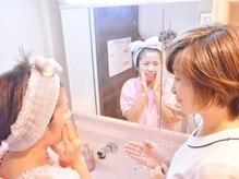 プリエール ビューティの雰囲気(施術の前に洗顔教室!たっぷりの泡でさっぱり気持ちい♪)