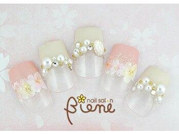 ネイルサロン ビーネ(nail salon Biene)/スプリングネイル2017¥12980-1