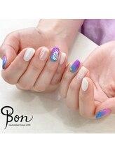 ネイルアトリエ ボン(nail atelier bon)/パイナップルネイル☆