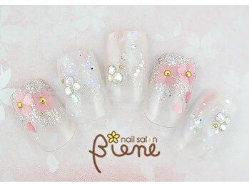 ネイルサロン ビーネ(nail salon Biene)/スプリングネイル2017¥12980-2