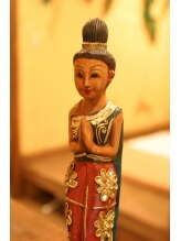 タイ古式マッサージ ラ イム 松戸店/タイで購入した小物や店内装飾