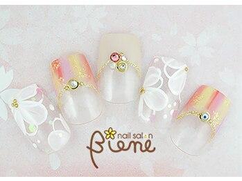 ネイルサロン ビーネ(nail salon Biene)/スプリングネイル2017¥12980-4