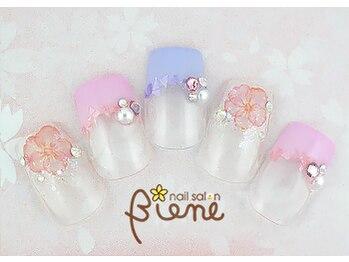 ネイルサロン ビーネ(nail salon Biene)/スプリングネイル2017¥12980-5