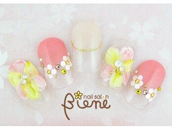 ネイルサロン ビーネ(nail salon Biene)/スプリングネイル2017¥12980-6
