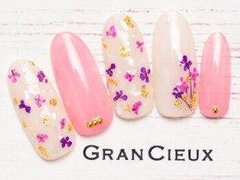 グランシュクアトロ 千葉店(GranCieux × QUATRO)/【成人式向け】押し花ワンカラー