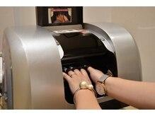 プリントは、プリンターに直接指を入れて印刷します♪