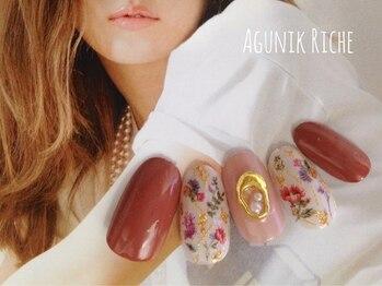 アグニークリッシェ(Agunik Riche)/【フラワーネイル】