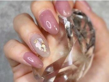 ミュウ(nail&eyelash salon Myu)の写真/OLさん&大人女性に大人気♪【ワンカラー/ラメグラデーション】上品な仕上がりに!+¥500で2本アートもOK◎