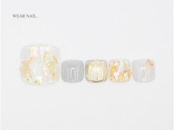 ウェアネイル(WEAR NAIL.)/シェル大理石ネイル¥11000
