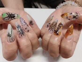 """マニフィーク(magnifique)の写真/あなたの爪がキャンバスに☆繊細アート~キャラクターデザインもお任せ!おしゃれ上級者は""""magnifique""""へ♪"""