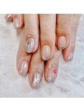ネイルアンドビューティー 凛空(nail&beauty link)/ガラスフレンチ