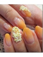 オレンジィ~3Dの花