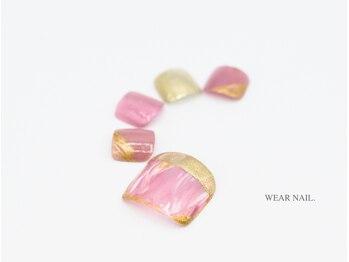 ウェアネイル(WEAR NAIL.)/ピンクマーブルネイル¥8580