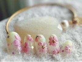 春*ぷっくり桜アートの3D*